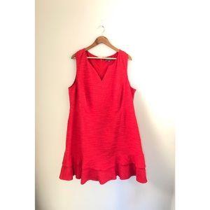 Sharagano sleeveless red dress sz 20W